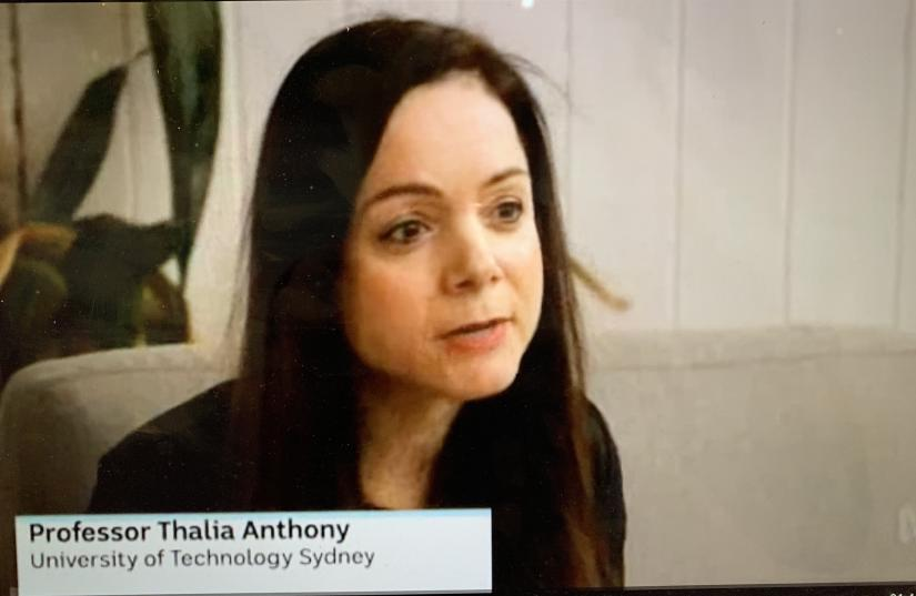 Thalia Anthony on the ABC News.