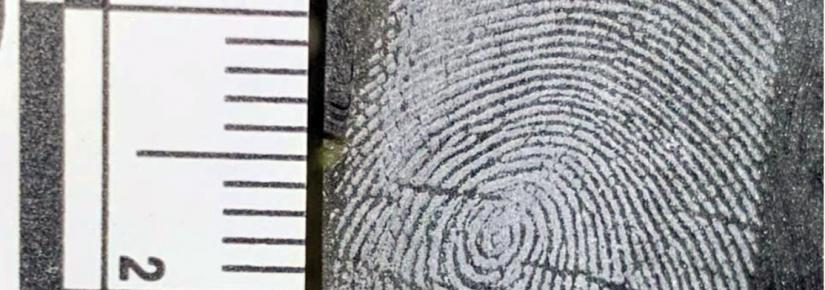 Finger prints being measured