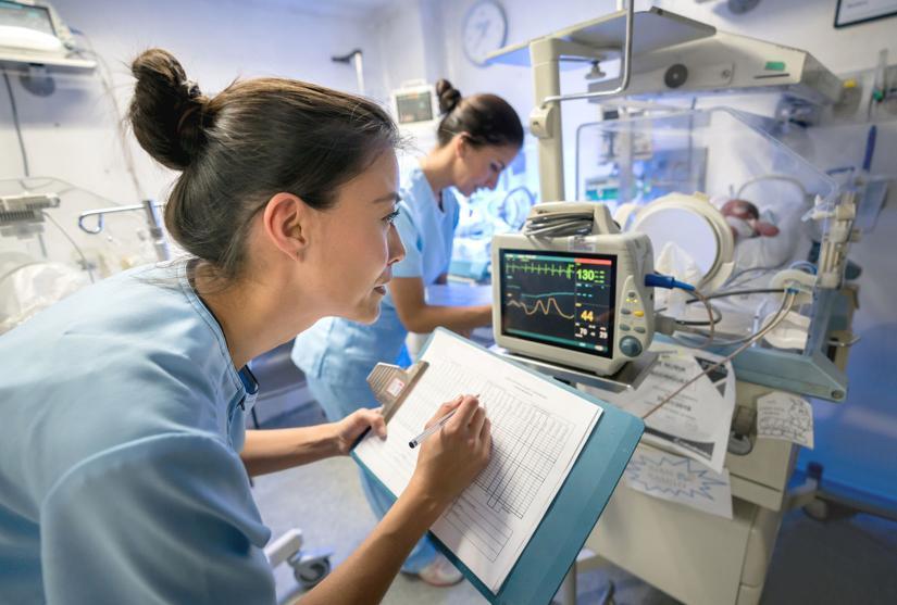 Nurses working in hospital