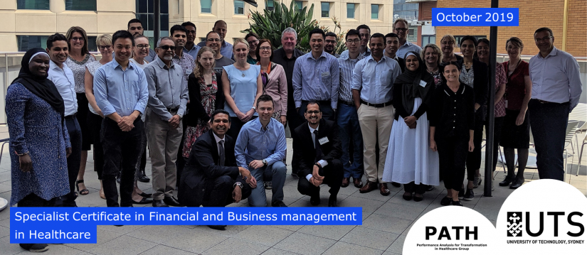 Specialist Certificate of Financial and Business Management in Healthcare Oct 2019