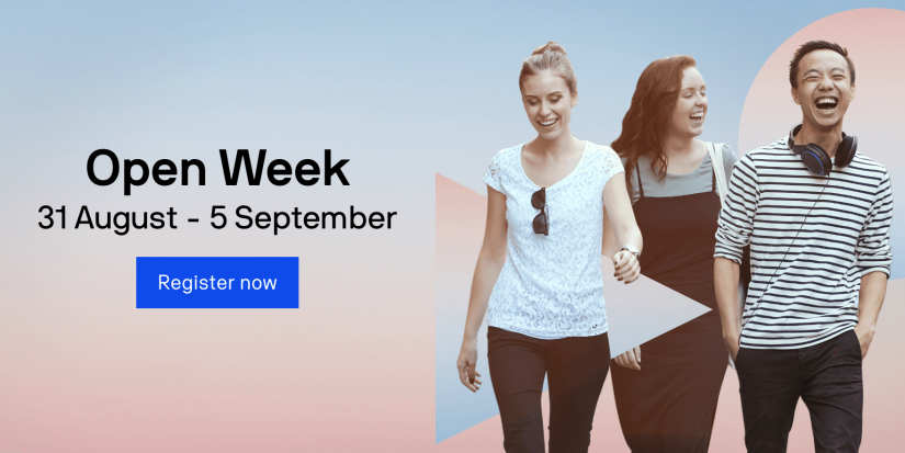 UTS Open Week event from 31 August to 5 September 2020 - Register now