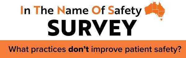 In the name of safety Australia survey logo