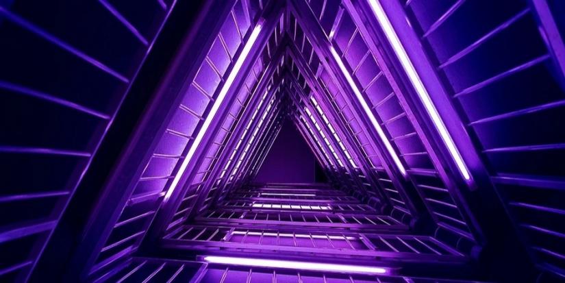 Purple neon lights