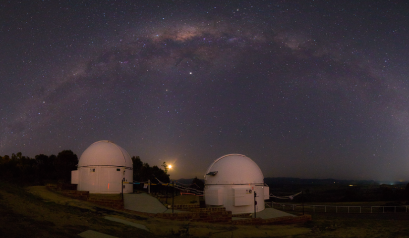 Observatory and galaxy