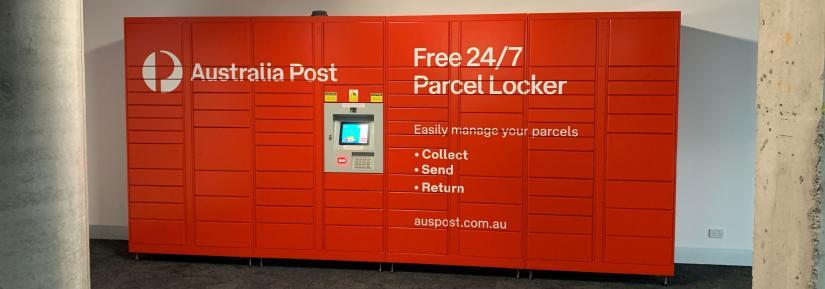 Parcel lockers in UTS Building 2