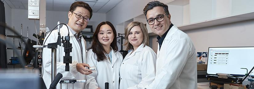 Professor Dayong Jin and his collaborators on the rapid COVID test