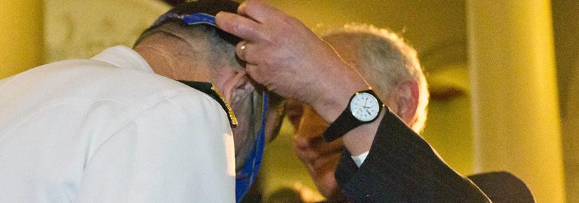Man receiving the Order of Australia