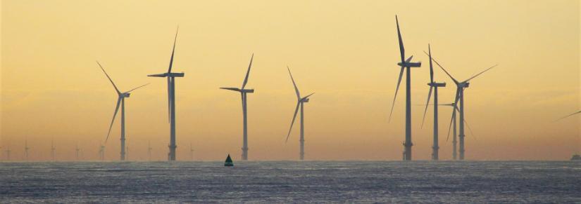 windmills off the coast