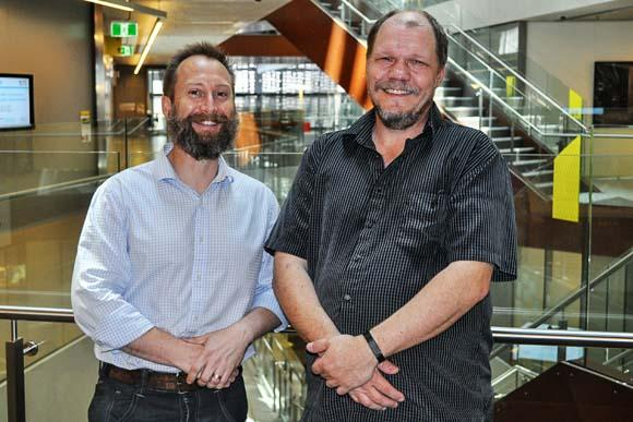 UTS researchers Paul Kennedy and Dan Catchpoole, picture by Julia Stepowska