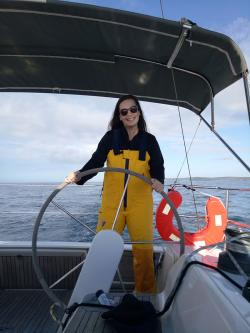 Caitlin Lawson on boat