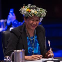 Mrs Elizabeth Iro, newly appointed WHO Chief Nurse at the Sixty-Eighth Session of the WHO Regional Committee for the Western Pacific