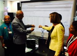 Minister of Health and DFAT launching the new registration system