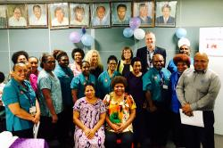 National Department of Health, Nursing Council, DFAT and stakeholders celebrate