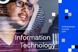 Front cover of the undergraduate information technology course guide
