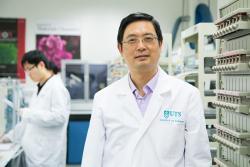 Guoxiu Wang in a lab coat