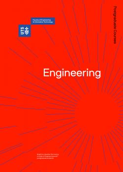 Cover of the UTS Engineering postgraduate course guide