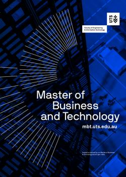 Cover of the UTS Master of Business and Technology flyer