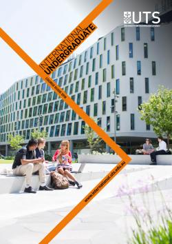 Cover of the UTS International undergraduate course guide
