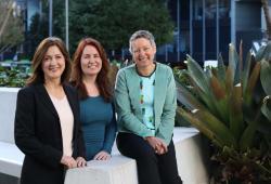 Genetic counselling team members Chris Jacobs, Rosie O'Shea, Alison McEwan