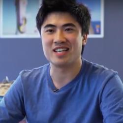 FASS Communications graduate Han Nguyen interviewing Bill Shorten