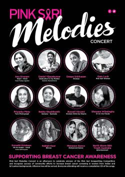 "Poster for the Pink Sari ""Melodies"" concert"