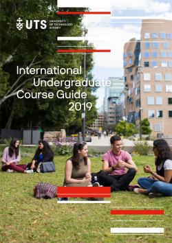 UTS International undergraduate course guide cover