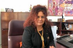 Photo of Senator Malarndirri McCarthy seated in her office