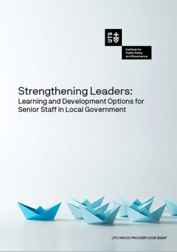 UTS IPPG Strengthening Leaders Report cover page