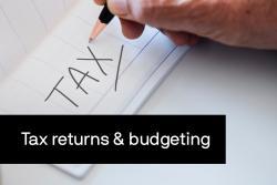 Tax written on paper