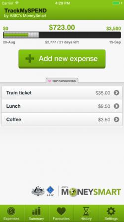 Track My Spend App Screenshot