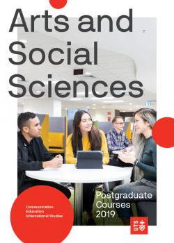 UTS Faculty of Arts and Social Sciences postgraduate guide cover