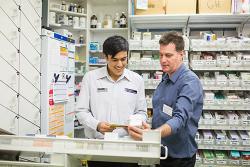 Pharmacy student in pharmacy