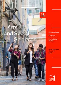 Cover of the UTS Arts and Social Sciences undergraduate course guide