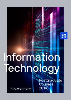 Cover of the UTS IT postgraduate course guide