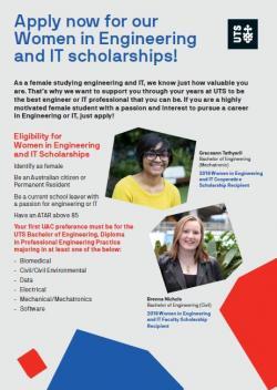 Women in engineering and it scholarships brochure