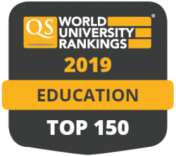 QS World University Rankings 2019 Education TOP 100 badge