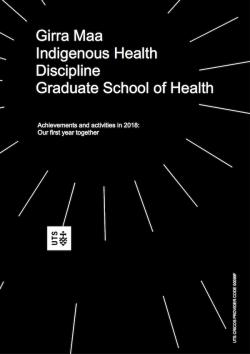 Girra Maa - Indigenous Health Report 2018