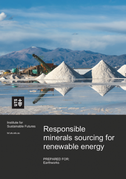 Responsible minerals sourcing for renewable energy report