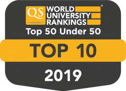 Top 10 in Top 50 under 50 - QS World University Ranking