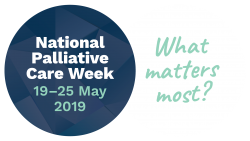 National Palliative Care Week promotional logo for What matters most campaign