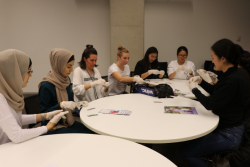 UTS Students work together to create birthing kits