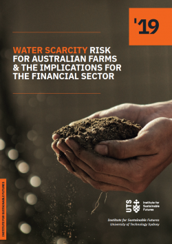 Water Scarcity Risk for Australian farms and the implications for the financial ector