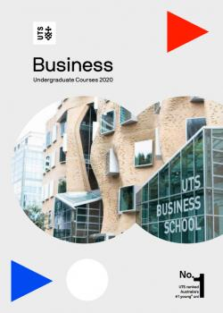 Business UG course guide cover 2020