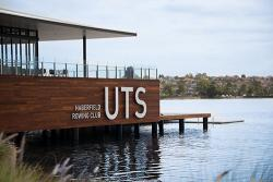 UTS Haberfield Rowing Club overlooking Iron Cove