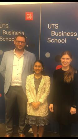 Elena Meshcheriakova (left), Sopany Saing (centre), Prof Stephen Goodall (left)