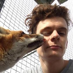 Eamonn Wooster with fox