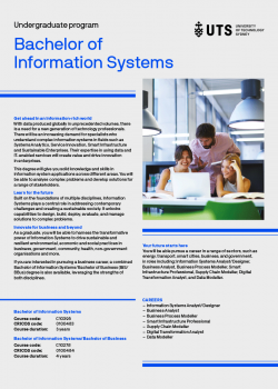 Cover of the Bachelor of Information Systems flyer