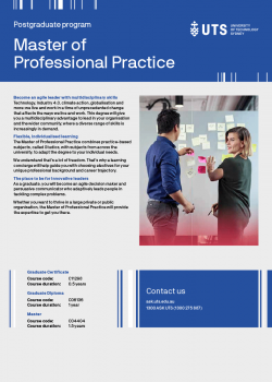 UTS Master of Professional Practice flyer cover