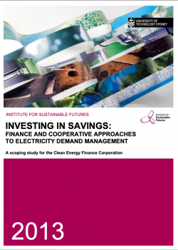 Investing in savings - report cover