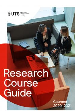 Higher degree research course guide cover 2020/21
